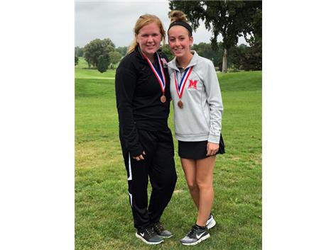 ESCC All Conference Girls Golf Kelly Anderson and Lauren McNulty.