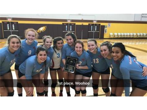 1st Place Champions Girls Sophomore Volleyball Jacobs Invite