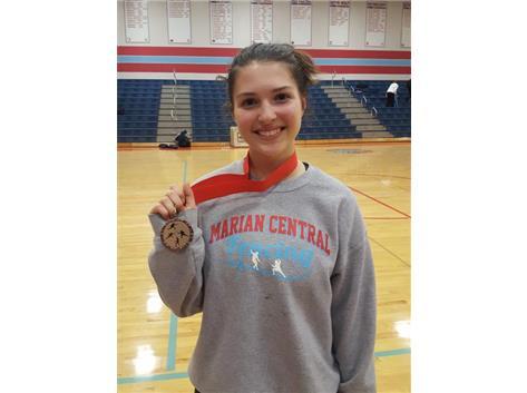 Jenna Knapp took 3rd Place at the Great Lakes Junior Varsity Championship at Marian 1/19/2019.