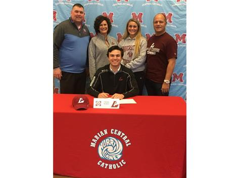 Congratulations to Charlie Kramer who signed his letter of intent to play football at University of Wisconsin- La Crosse.