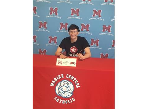 Congratulations to Conor Weferlmann who signed his letter of intent to play soccer at Viterbo University.