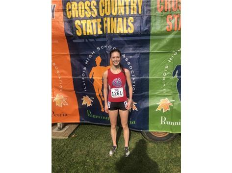 Congratulations to Siobhan Stoll  who finished in 8th place at the IHSA Class 2A Girls Cross Country State Final. Stoll also received