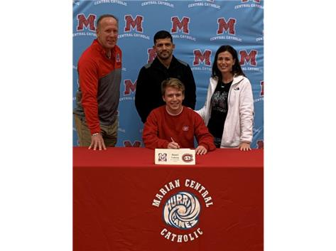 Congratulations to Daniel Valeria who signed his letter of intent to wrestle at St. Cloud State University.