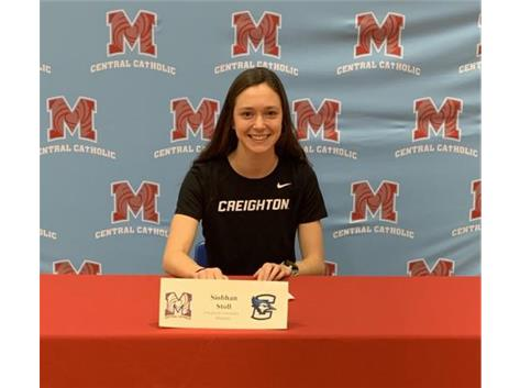 Congratulations to Siobhan Stoll who signed her Letter of Intent (Cross Country) to attend Creighton University.