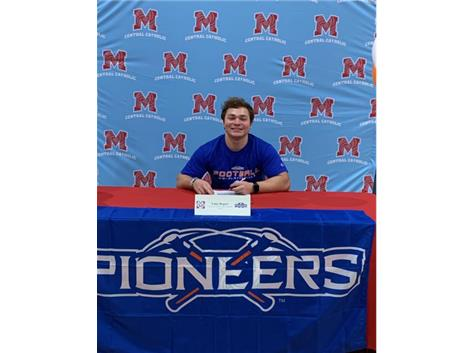 Congratulations to Luke Rogers who signed his Letter of Intent to play football at University of Wisconsin-Platteville.