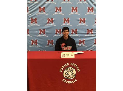 Congratulations to Michael Aragon who signed his letter of intent to play baseball at Lakeland College
