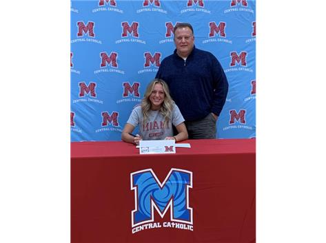 Congratulations to Jenna Golembieski who signed her letter of intent to continue her academic and softball career at Miami University Ohio.