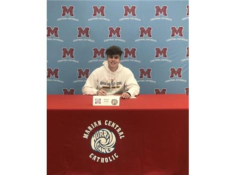 Congratulations to Marlon Pomili who signed his Letter of Intent to play football  for Marian University Knights!
