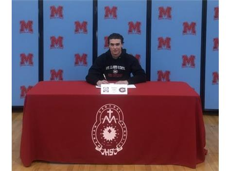 Congratulations to Nicholas Lopez who signed his Letter of Intent to continue his academic and wrestling career at St. Cloud State University.