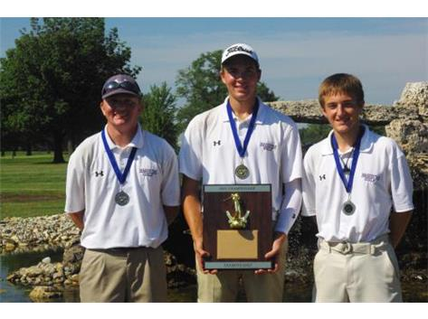Jeremy (All-Conference), Alex - Medalist (75), Trey (All-Conference)