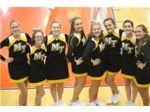 JV Cheer ready to root on the Panthers to victory