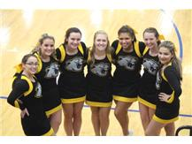 Varsity Cheerleaders prior to the game at Clinton Massie