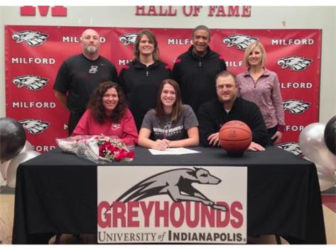 Taylor Foster signed an NLI to play basketball at the University of Indianapolis.