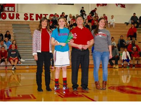 Scenes from Senior Night on Feb. 6 (Photo credit: Tim Forrest)