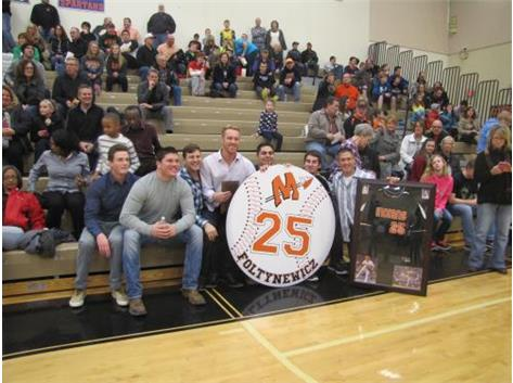 Retiring Baseball's #25 Michael Foltynewicz & MCHS Team members 1/30/15