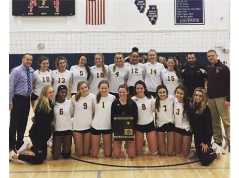 2019 IHSA 2A Girls Volleyball Regional Champions