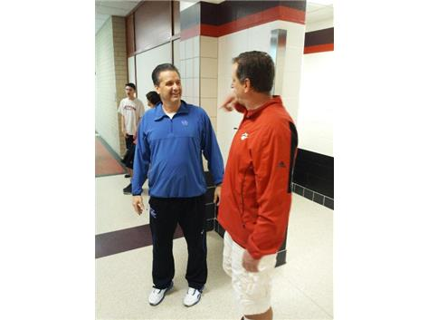 Kentucky Head Basketball Coach and Moon Alum, John Calipari with Mr. Gallagher