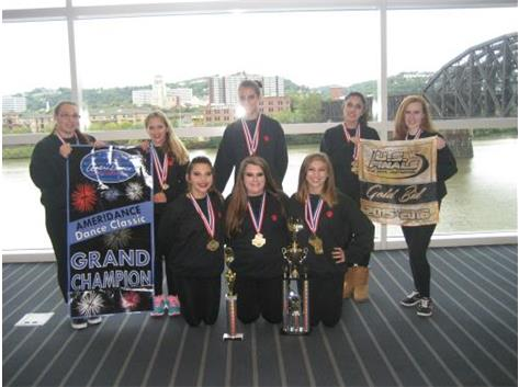 1st place Varsity Hip Hop  Grand Champions Paid Bid to US Finals