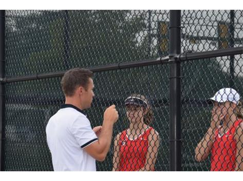 Kira and Nat (hopefully) listening to coach's instructions...