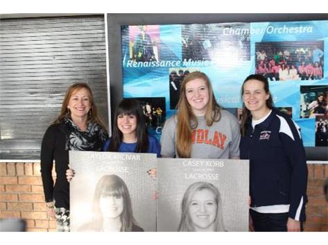 Seniors who are committing to play lacrosse in college.