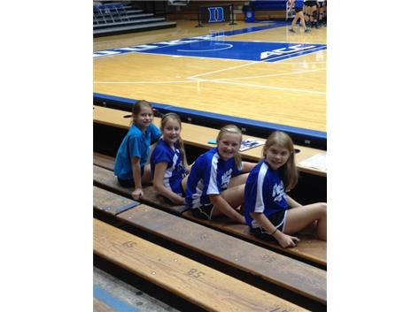 Getting ready to watch Duke Volleyball