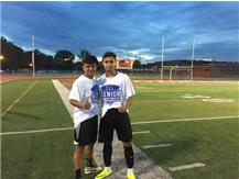 Raul Galindo (L) and Jason Zarate (R) after winning 4-0 in the all-star game.