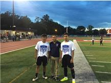 Raul Galindo, Coach Castillo, and Jason Zarate
