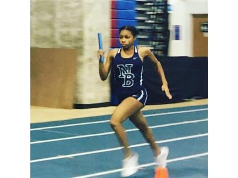 Nya powers through the finish for their first place finish