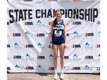 Megan W. 7th Place in State in 100M Hurdles