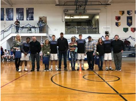 Boys Basketball Senior Night 1/22/20