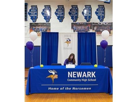 Softball Player Signing