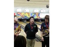 Team captain Avery Wolf rolls a 1317 series to capture 8th place individual honors at the Rockford East Invite.