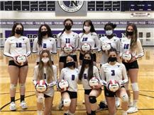 The Niles North Girls Varsity Team 2021  #1-Olivia Grbavac, #0 Anne Delos Santos, #6 Judith Lazar, #3 Julia Vukic, #12 Talia Johnson, #2 Katalina Liuzzo, #11 Esma Ajanovic, #15 Alex, Hatieganu, #13 Cari Giwa-Finley, and #10 Jena Vukic
