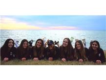 Coach VJ with the Seniors - Sunset Picture 2021