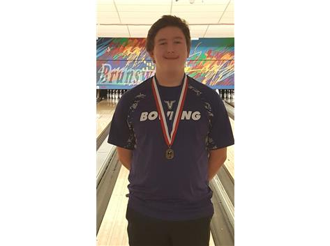 Senior Avery Wolf captures the CSL Individual Bowling title for the 2nd straight year.