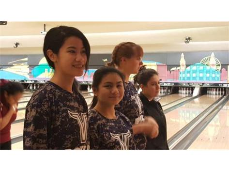Four individuals get ready to compete at the regional tournament. Bowlers Alyanna Gonzales, Phoebe Rosa, Maggie Maivald and Gabby Potempa are introduced.