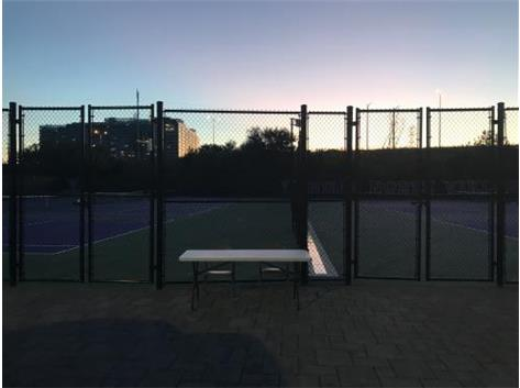The new Niles North tennis courts after our first victory