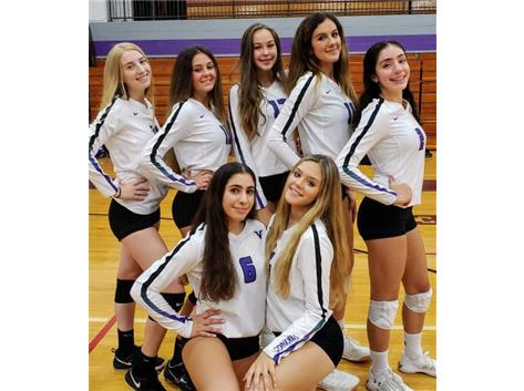 Juniors of 2019 Niles North Varsity Volleyball  Team