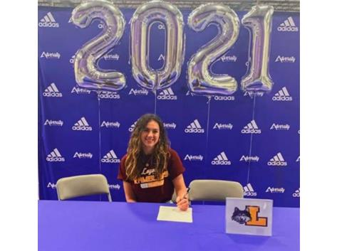Esma's signing day to Loyola University - class of 2025