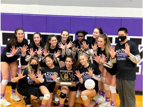 First time ever in 55 years the Niles North Girls Volleyball are CONFERNCE CHAMPIONS 2021. With a winning record of 10-0