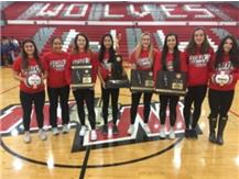 "Wolves are celebrated during the morning pep assembly for making the state ""Final Four"". The best girls volleyball team in school history! We are proud of you!!!"
