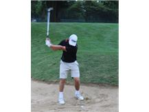 Jack about to make a tough bunker lie look easy!