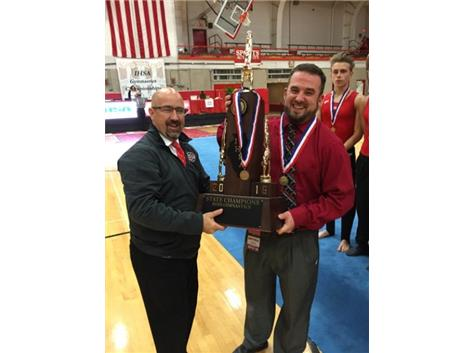 Coach Batista with the 1st place State trophy.