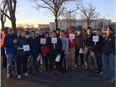 This past weekend our Niles West junior and senior wrestlers volunteered with the Hunger Resource Network at the Underwriters Laboratories in Northbrook to provide 126,000 lbs. of chicken to food pantrys across the Chicagoland area.