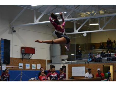 Senior on beam