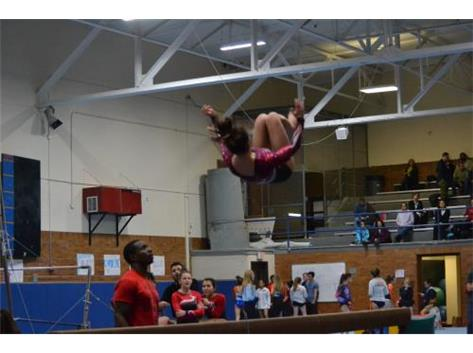 Back flip on beam