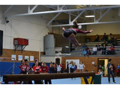 Pike jump on beam