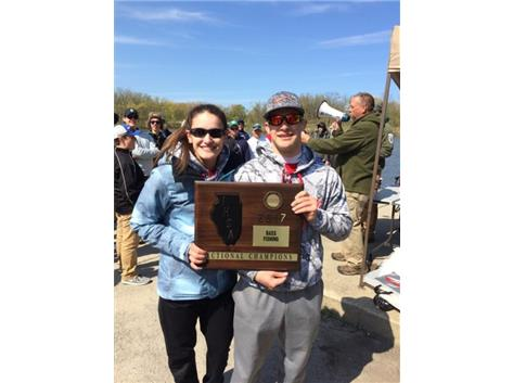 Congrats to Matt and Sam Galanopoulos. Who knew the brother and sister combo were this good at fishing?  GO WOLVES!