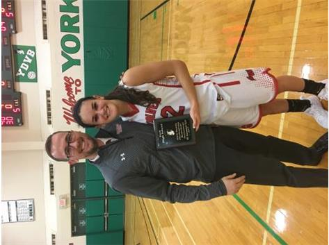 Congrats to Jr. Samantha Galanopoulos of being named to the 2017 York HS Holiday All-Tournament team for the 2nd straight year. GO Wolves!!!