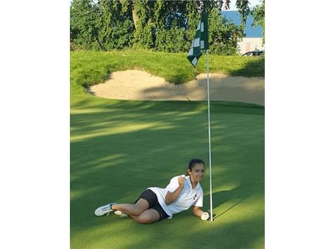Senior Klodiana Duraku aces the 5th hole at Tam GC.